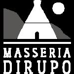 logo Masseria Dirupo bianco grigio